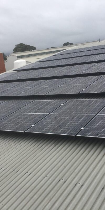 closeup of 50kw installation at Torrensville SA