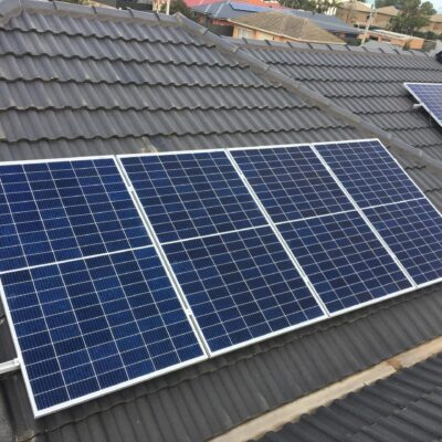 Canadian Solar Panels on Eastern Roof