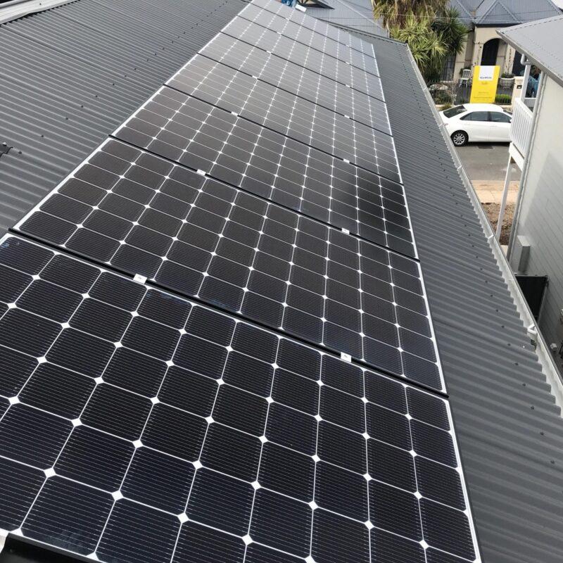 LG Neon 2 Panels on Eastern Roof